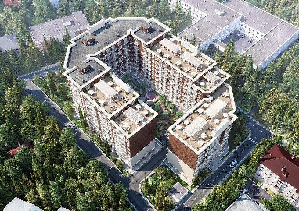 Многоквартирный жилой дом в Сочи|архитектор|дизайнер|Сочи