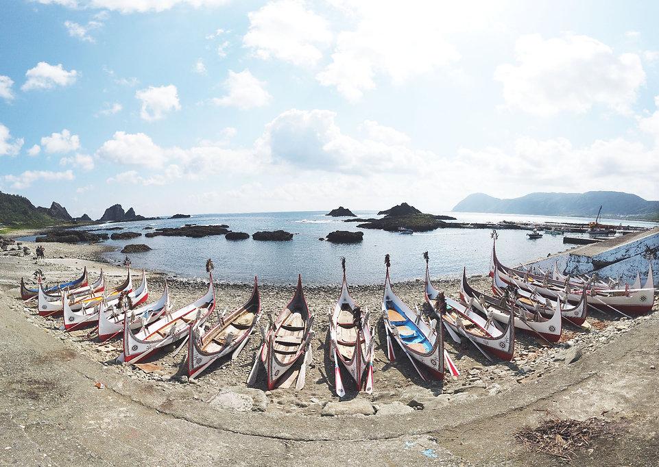 台灣台東.蘭嶼.東清部落.拼板舟.海洋.山.旅遊景點.離島