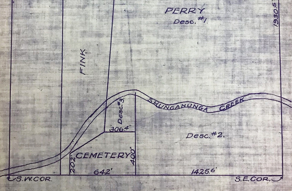 Cropped from a 1933 plat of survey on file at the Shawnee County Surveyor's Office
