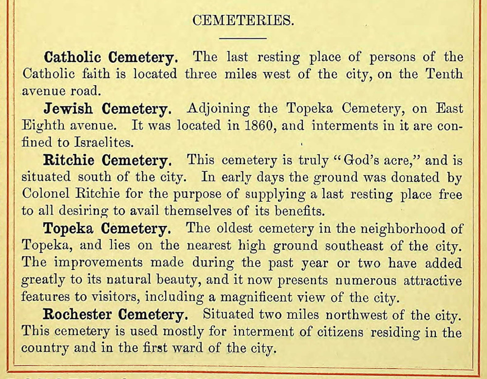 Radges' Directory of the City of Topeka, 1888-1889 (p 54); accessed via ancestry.com