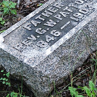 Headstone for G.W. Patton in Ritchie Cemetery