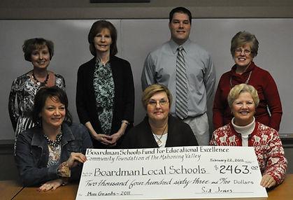 First Reipients of Teacher Grants February 22, 2011