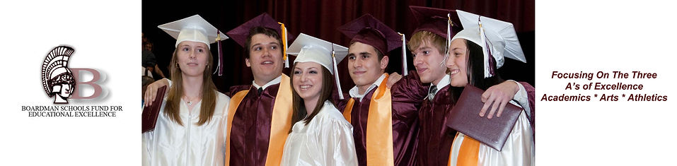 Boardman High School Seniors in cap and gowns during commencement.