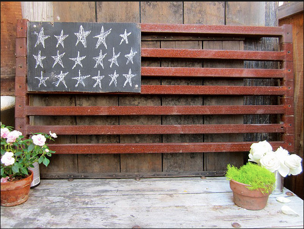 Flag reclaimed iron strapping