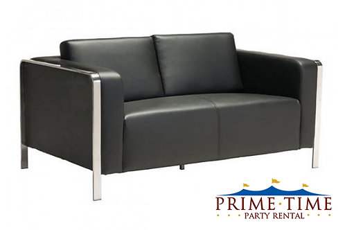 Hudson Black Loveseat