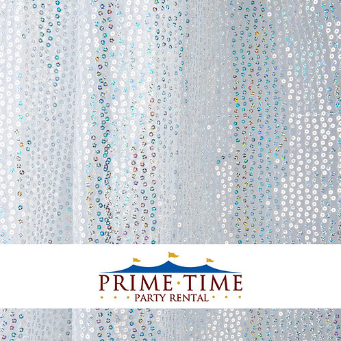 White Sequins Sheer 12' Specialty Drape