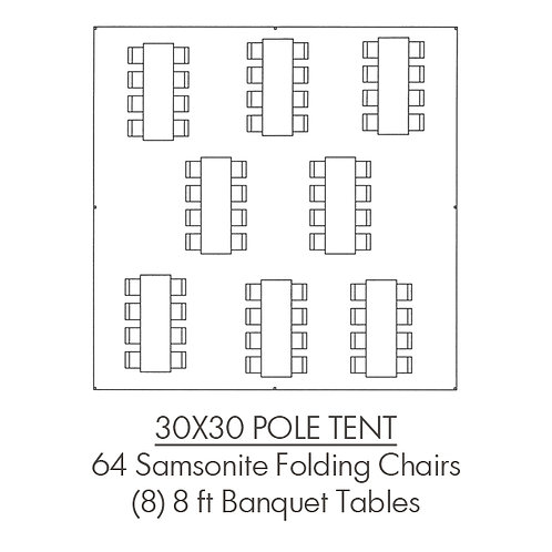 30x30 Pole Tent Package