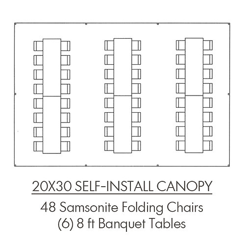 20x30 Self-Install Canopy Package