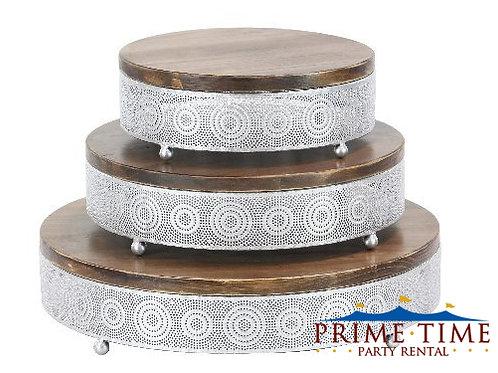 Silver Artisan Cake Stand