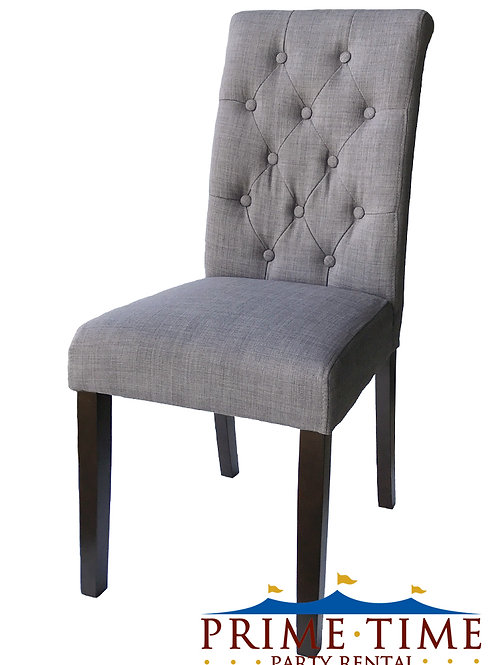 Tufted Grey Parons Accent Chair