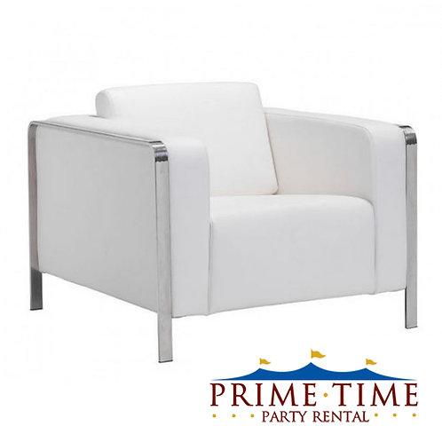 Hudson White Armchair