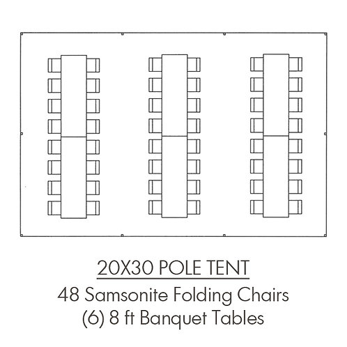 20x30 Pole Tent Package