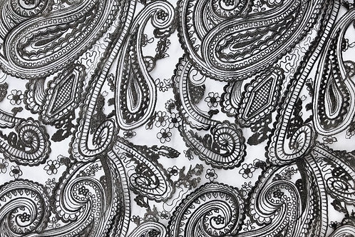 Paisley Black Lace