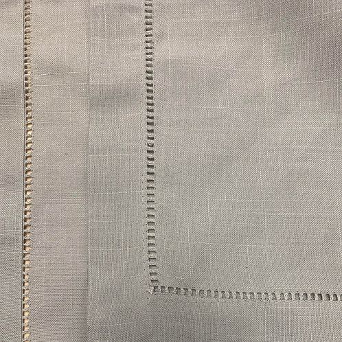 Hemstitch Napkins - Gray