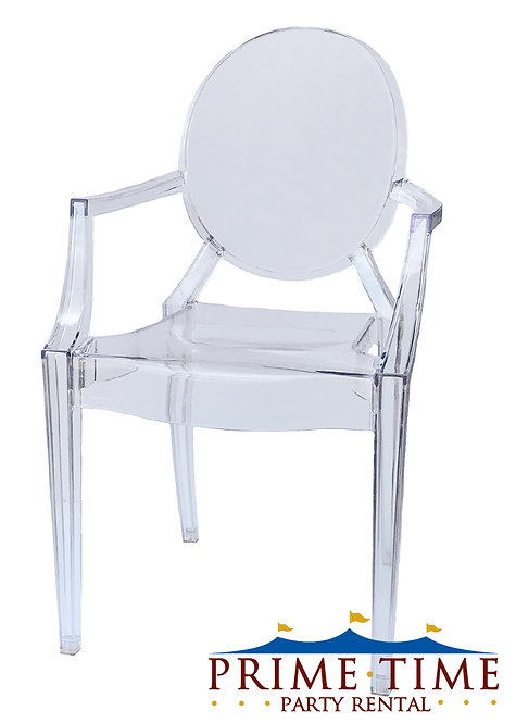 Clear Armed Ghost Chair