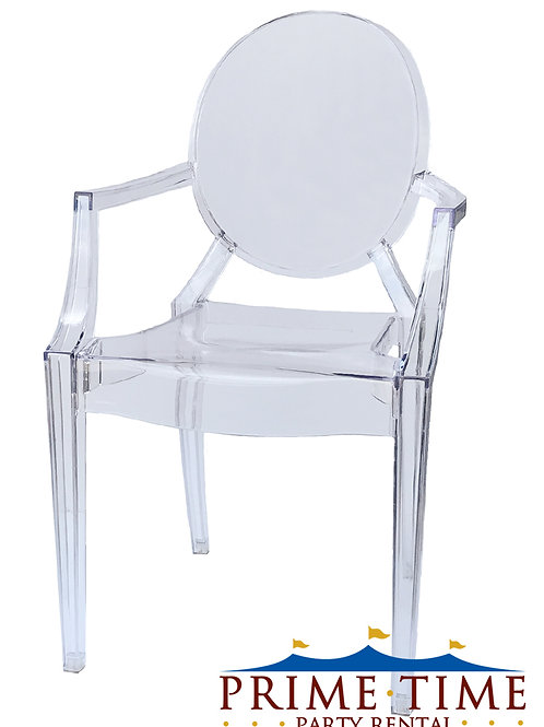 Louis Clear Armed Ghost Chair