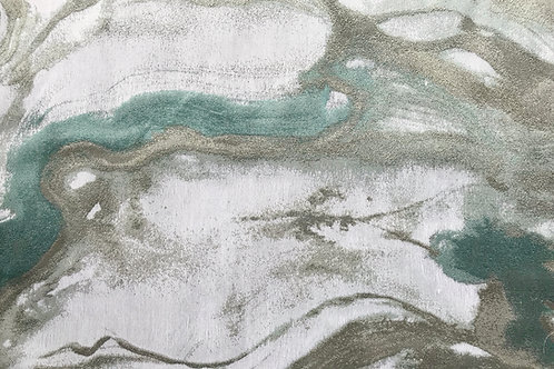Divinity Mist Marble Aqua Silver Linens