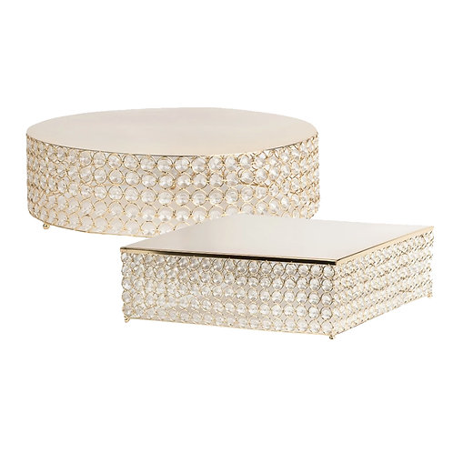 Crystal Gold cake stands