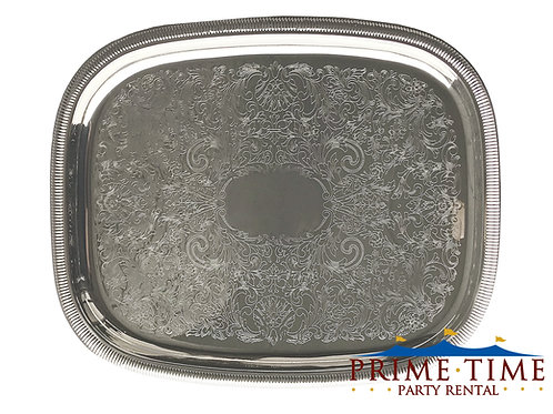 Silver Oblong Serving Trays