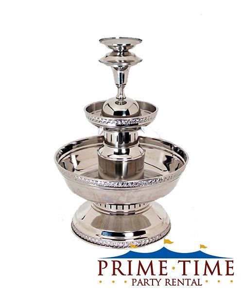 Silver Aluminum Beverage Fountain 5 gallon