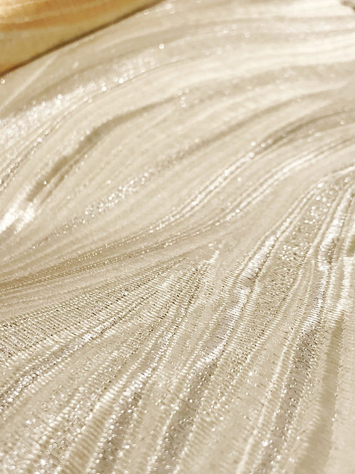Enchantment Metallic Brocade Ivory Linen