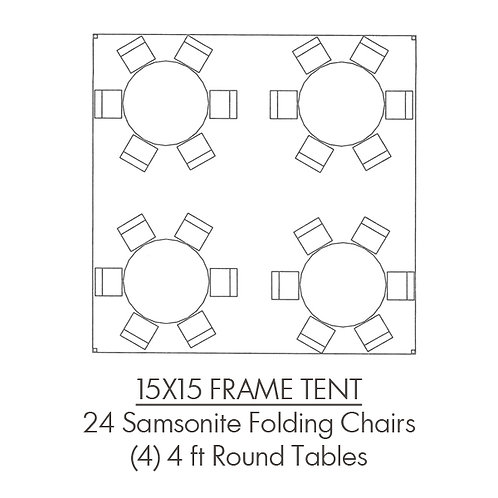 15 x 15 Frame Tent Package