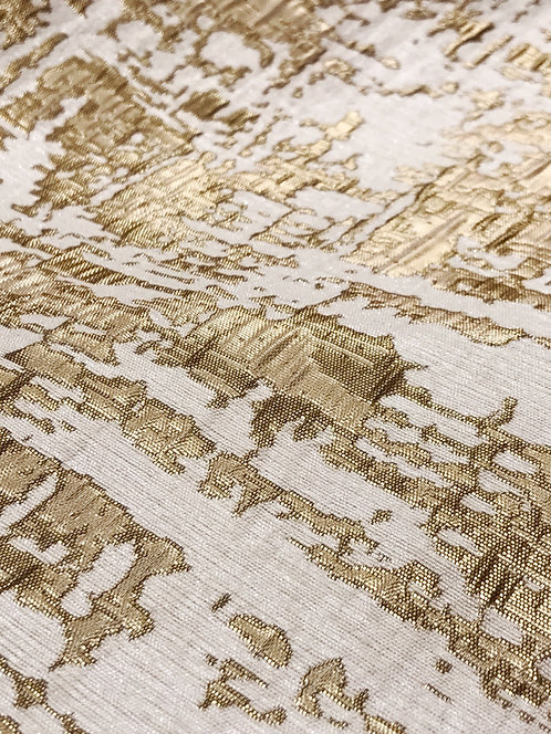 Brilliance Gold & Silver Double Sided Metallic Brocade Linen