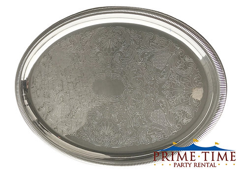 Silver Oval Serving Trays
