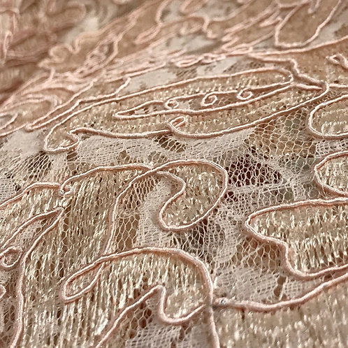 Venetian Lace Blush Linen