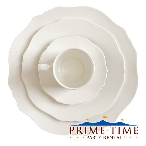 Duchess Scalloped White Dinnerware