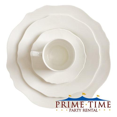 Duchess Scalloped White Dinnerware