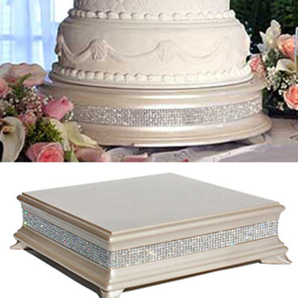 Ivory Diamond cake stands