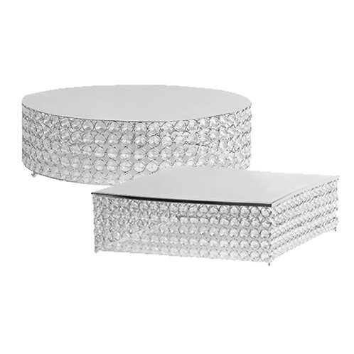 Crystal Silver cake stands