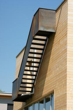 Treppe auf Dachterrasse