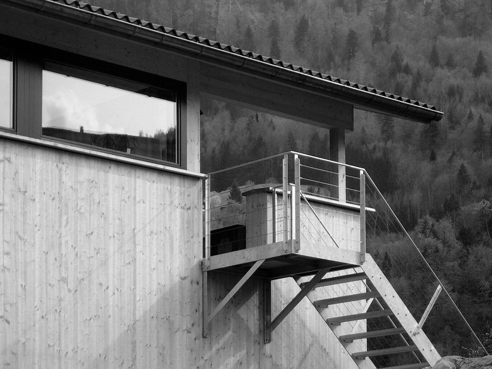 Treppe auf Westterrasse