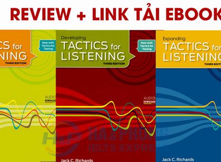 Trọn bộ Basic Tactics For Listening (review + link tải)