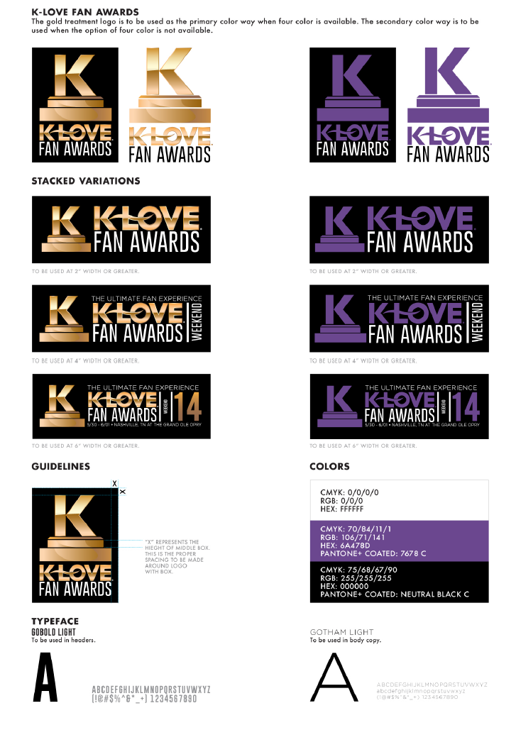 K-LOVE FAN AWARDS BRANDING