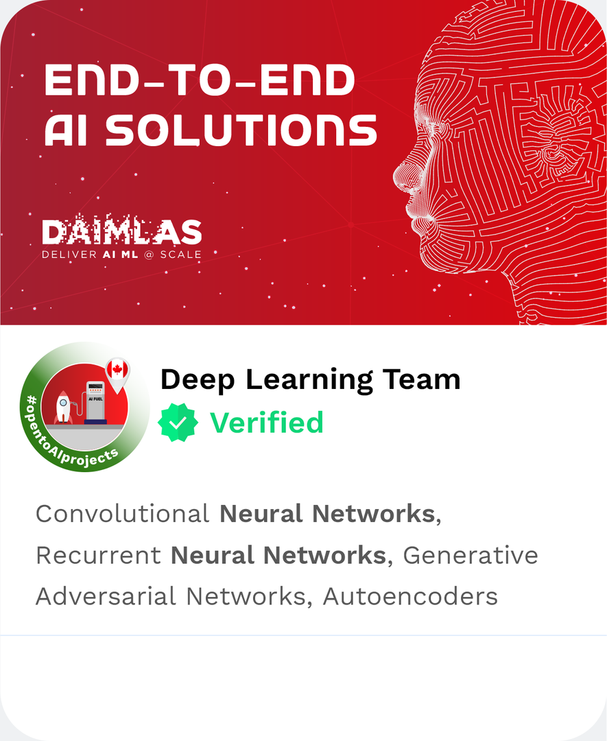 DAIMLAS Deep Learning Team Convolutional