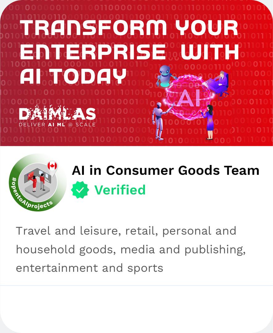 DAIMLAS AI in Consumer Goods Team Travel