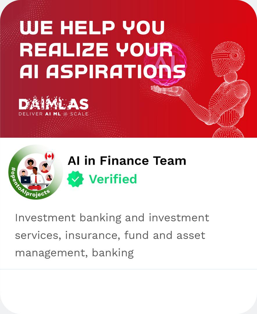 DAIMLAS AI in Finance Team Investment ba