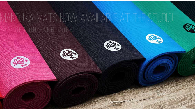 NEW Manduka Mats Now Available at the Studio