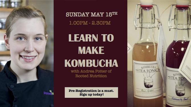 LEARN TO MAKE KOMBUCHA