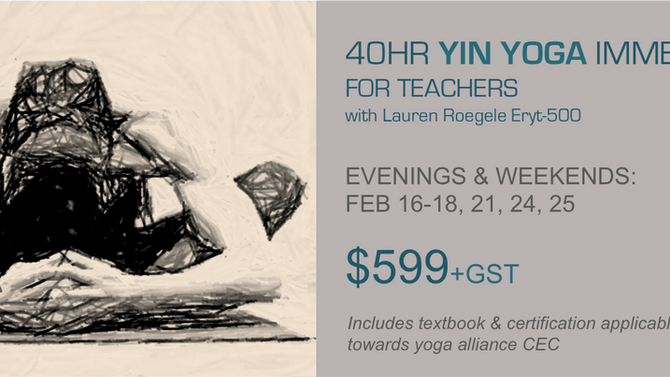 NEW - 40HR Yin Yoga Immersion