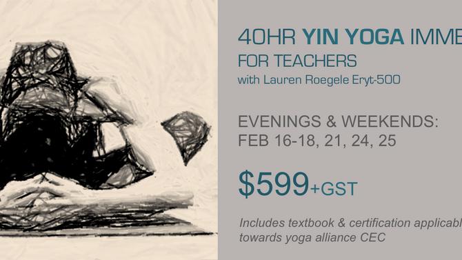 NEW - 40HR Yin Yoga Immersion