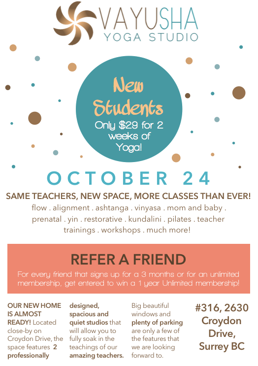 NEW STUDIO SPACE OPENING ON OCTOBER 24TH!