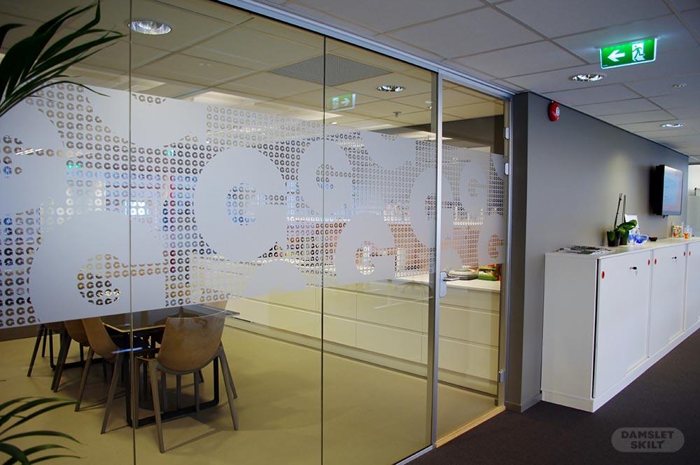 Kollisjonsmerking av glassflate