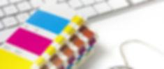 Fargevifte og tastatur til grafisk design