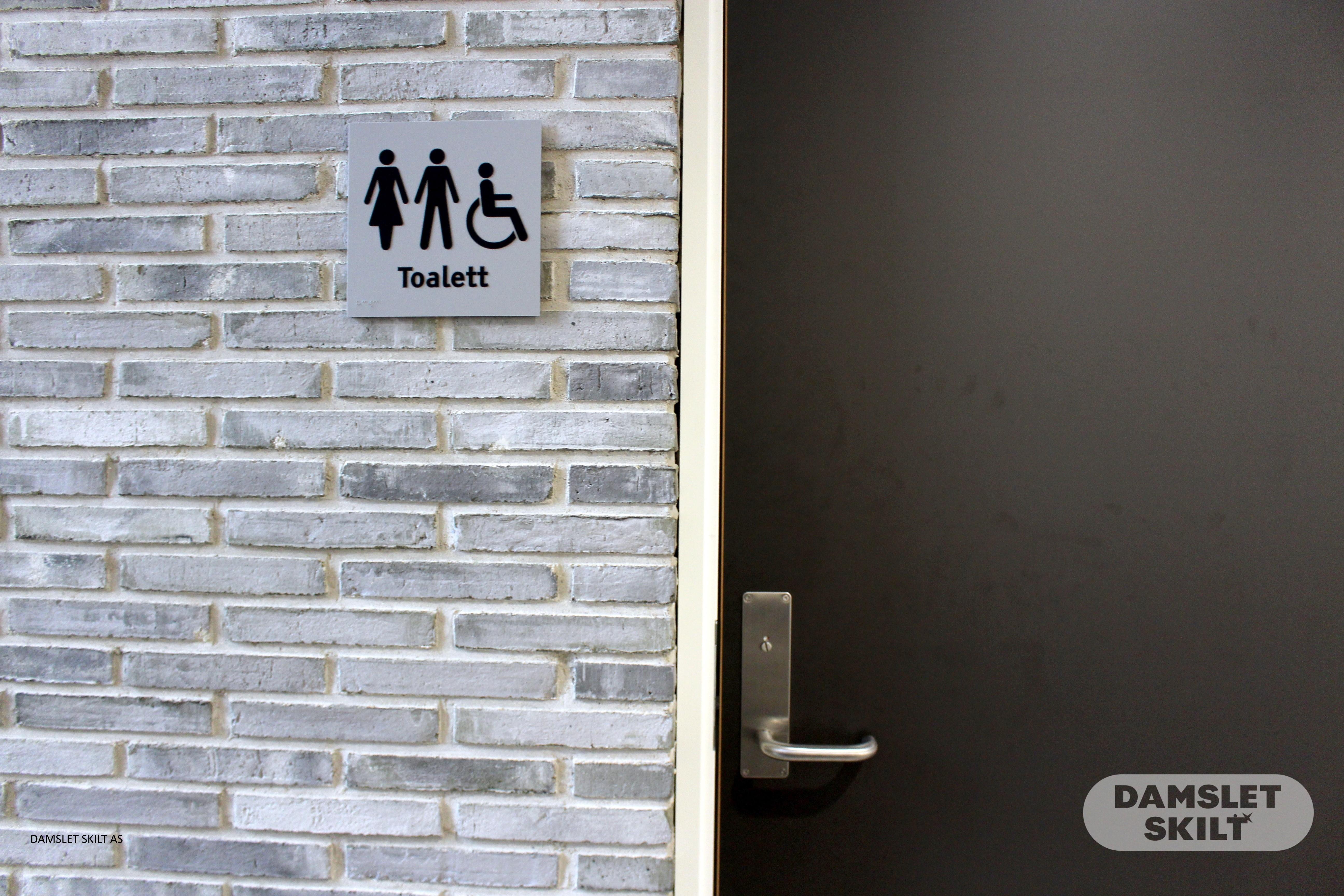 Piktogramskilt toalett