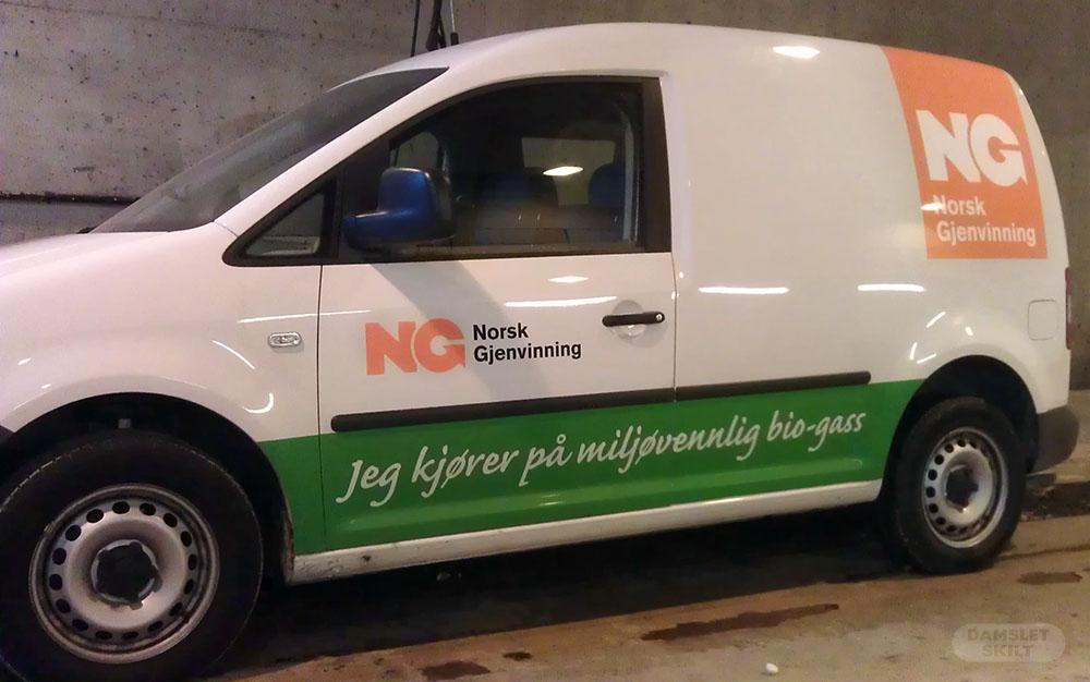 Grønn bildekor for NG