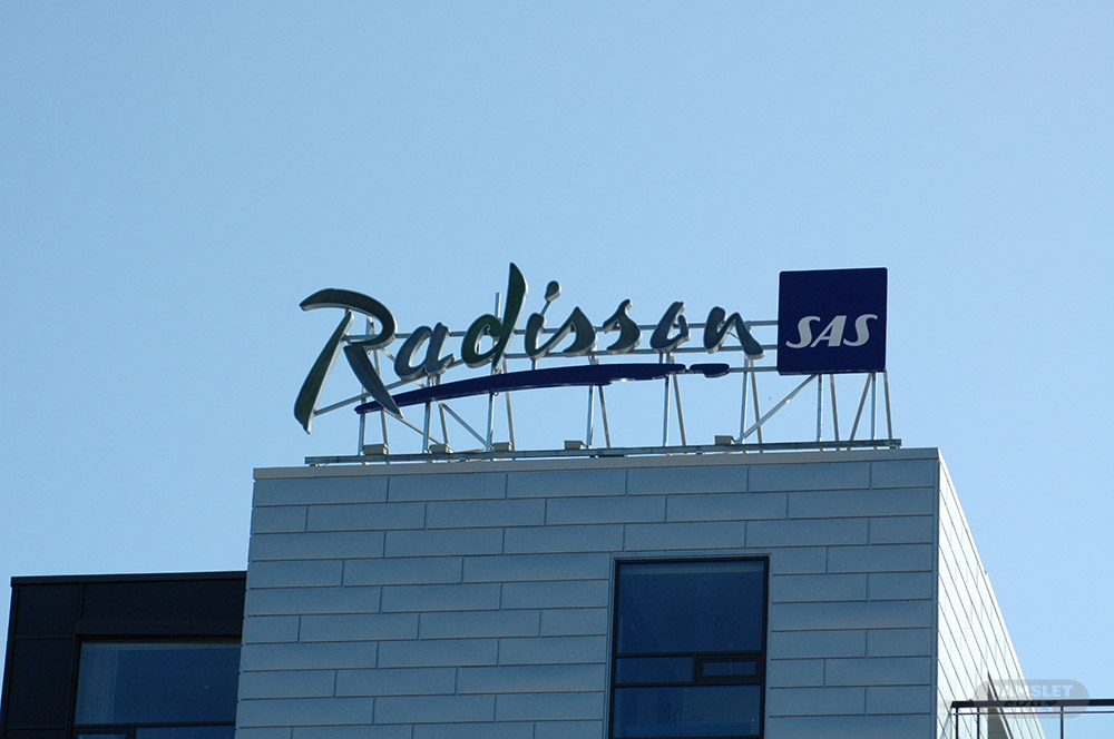 Fasadeskilt SAS Radisson